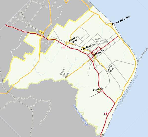 Mapa Punta Indio